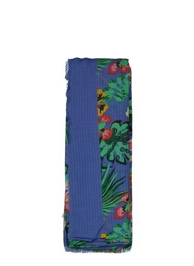 Collezione Collezione Çiçekli  Kadın Şal Mavi